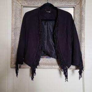 Jou Jou Black Fringe Jacket